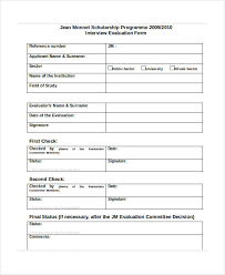 interview assessment form template luxury interview assessment forms 25 interview assessment form in