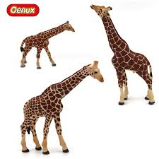 african animals toys.  Animals 3PCS Classic Wild African Animals Giraffe Solid PVC Model Action Figures Toy  The Male Female Giraffes On Toys A