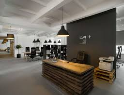 Office:Simple Office Cubicle Decorating Ideas With Mural Wallpaper Modern  Office Front Desk Design With