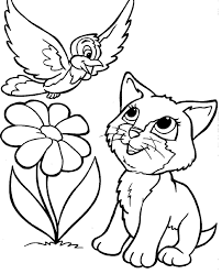 Kitty Cat Coloring Pages Through The Thousand Pictures On The
