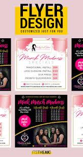 Custom Flyer Design Hair Extension Business Bundle Deals Bundles
