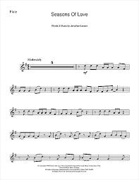 rent seasons of love sheet music seasons of love from rent sheet music by jonathan larson flute