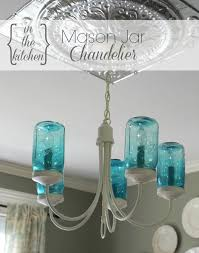 it was definitely time for a makeover so i decided to give my existing chandelier an update and create a mason jar chandelier