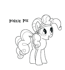 pinky pie coloring page coloring pics detail pinkie pie coloring book page p9297