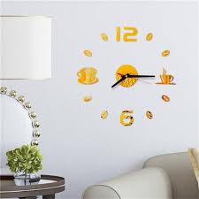 3d big wall clock 3d mirror