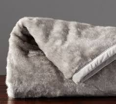 gray faux fur throw. Delighful Throw Faux Fur Throw  Gray Ombre  Pottery Barn Intended
