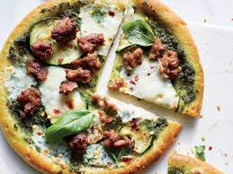 Cooking Light Pesto Sauce Recipe This Zucchini Pesto Sausage Pizza Has Less Than 400 Calories