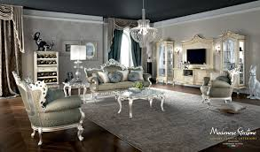 Silver Leaf Decoration Classic Salon With Furniture Decorated With Gold And Silver Leaf