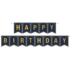 Foil Happy Birthday Streamer Banner Birthday Party Supplies And