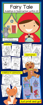 no prep fairy tale theme math practice my first grade students love these activities