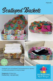Poorhouse Quilt Design Library Video Tutorials Scalloped Baskets Pattern By Poorhouse Designs