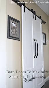 barn doors to maximize e in the laundry room