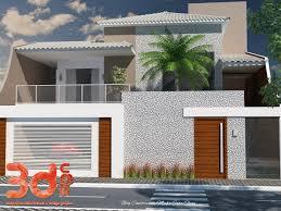 Construindo Minha Casa Clean Fachadas de Casas com Muros de Vidro.
