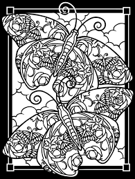 Simple Design Butterfly Coloring Pages For Adults 64 With View In