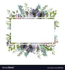Image Decorative Vectorstock Card Design With Succulent Cactus Frame Border Vector Image