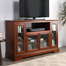 walker edison we furniture highboy wood tv stand 52inch antique brown amazonca home u0026 kitchen tv stand d69 stand
