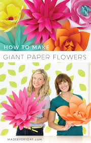 Paper Flower Video How To Make Giant Paper Flowers Video Tutorial On Made