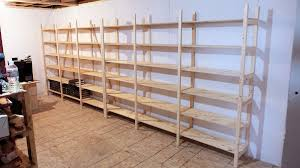 how to make strong and easy to build storage shelves