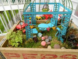 lots of people have big fairy gardens outside but this one is going to live in my sunroom
