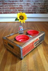 Upcycled Pepsi Crates For Dog Bowls