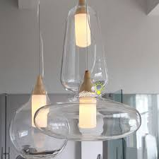 modern nu clear glass pendant lighting 8903