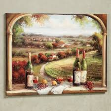 fabulous country and wine bottles portray as vintage kitchen wall decor in traditional kitchen designs