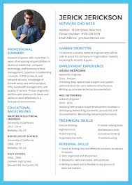 Free Network Engineer Resume And Cv Template In Adobe Photoshop For