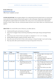 weekly syllabus template designing the perfect guitar lesson plan and syllabus guitar chalk