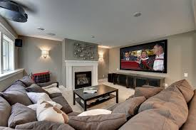 family room ideas with tv. basement sconce lighting family room contemporary with white throw pillows large tv ideas n