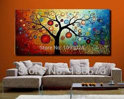 hand painted modern abstract money tree canvas wall art oil painting on canvas huge home decoration unique gift artwork pictures on modern abstract huge wall art oil painting on canvas with  hand painted modern abstract money tree canvas wall art oil