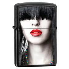 <b>Зажигалка Zippo</b> 28536 <b>Red Lips</b> Ebony|Zippo-zippo.ru Зажигалки ...