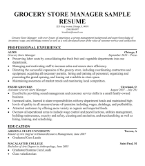 resume grocery store