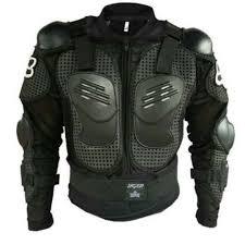 motocross racing motorcycle armor protective jacket medium black
