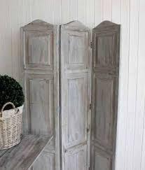 grey wash wood. Grey Wash Wooden Screen, Room Divider - Three Panels Greige Home \u0026 Garden Wood G