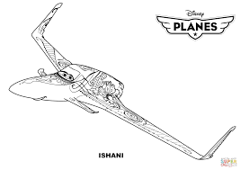Disney Planes Ishani Coloring Page Free Printable Coloring Pages