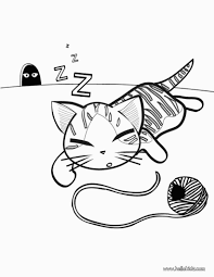 Cute Cat Coloring Pages Bestofcoloring For Cute Kitten Coloring