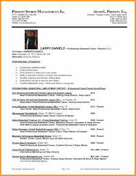 Assistant Basketball Coach Sample Resume Awesome Collection Of Professional Football Player Resume With 15