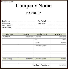 Payment Slip Format In Word Delectable Payroll Format Ceriunicaasl