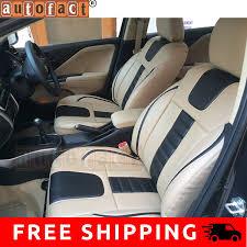 autofact af07 pu leather car seat covers tata nexon beige black in car motorbike