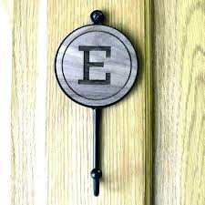 monogram wall hooks towel elegant letter initial bathroom