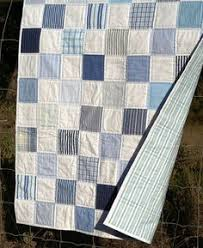 shirts baby quilt | Patchwork, Hand quilting and Scrap & Men's cotton shirts made into patchwork quilt with striped sheet as  backing. Great memory quilt Adamdwight.com