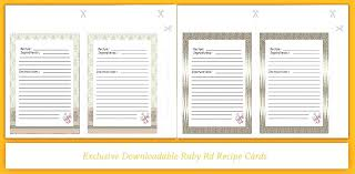 tab index cards recipe card divider recipe tab index cards dividers print food book