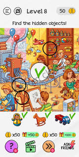 You have to find these hidden objects in these pictures. Braindom Level 8 Find The Hidden Objects Answers And Solutions Cluest
