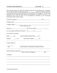 free printable bid proposal forms handyman contract sample dtk templates