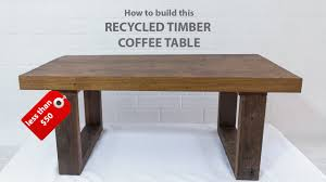Easy DIY modern coffee table - using reclaimed wood and basic tools -  YouTube
