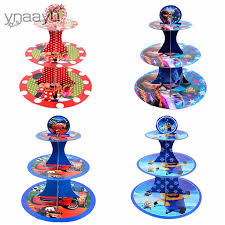 <b>Ynaayu 1pcs</b> Carton 3 Tier Cupcake Stand Paperboard Cake Stand ...
