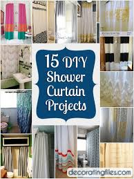 15 DIY Shower Curtain Projects Anyone Can Make! | Decorating Files |  #DIYshowercurtain #