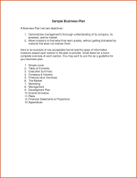 Basic Business Plan Template Simple Business Plan Example Business Plan Example Simple