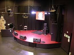 stage speakers setup. this small venue\u0027s stage shows an example of a typical monitor speaker set-up: there are three \ speakers setup o
