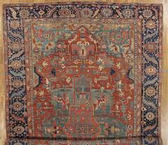 heriz serapi antique persian heriz carpet handmade wool oriental rug rust navy